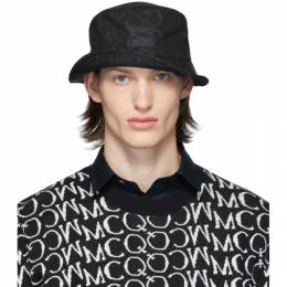 MCQ by Alexander McQueen Black Logo Bucket Hat 571333RGC45