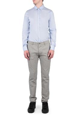 Голубая рубашка со складкой на спине Trussardi Jeans 3074174788