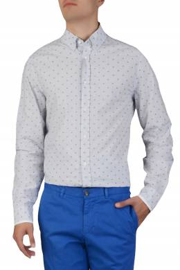 Светло-серая рубашка с узором Trussardi Jeans 3074174787