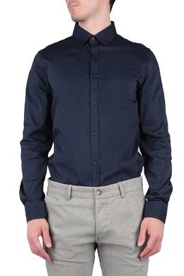 Темно-синяя рубашка со складкой на спине Trussardi Jeans 3074174795
