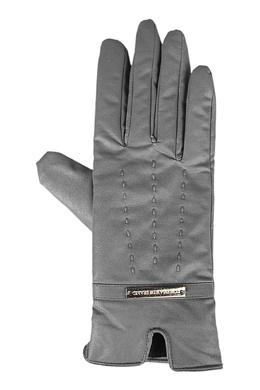 Серые кожаные перчатки Trussardi Jeans 3074174777