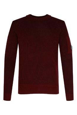 Бордовый свитер с фактурным узором C.P. Company 1929174999