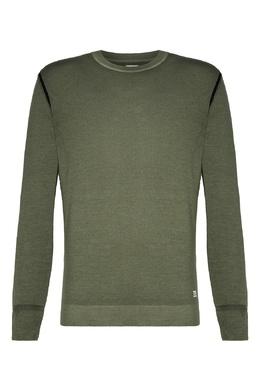 Зеленый свитер с контрастной отделкой C.P. Company 1929174992