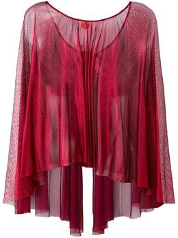 Maria Lucia Hohan sheer round neck blouse CAPE