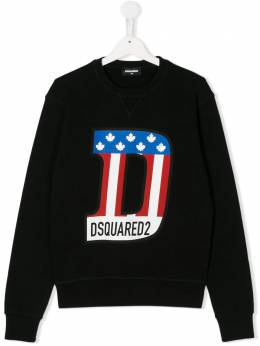 Dsquared2 Kids TEEN flag logo print sweatshirt DQ044PD00RG
