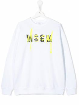 MSGM Kids TEEN logo stamp sweatshirt 022079