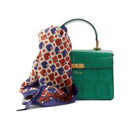 Marc Jacobs Green The Downton Croc Bag M0015919