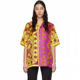 Versace Yellow and Pink Barocco Western Shirt A81630 A232646