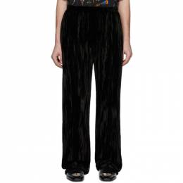 Balenciaga Black Velvet Pyjama Trousers 605771-TFQ06-1000