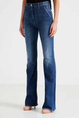 Синие джинсы с накладными карманами Elisabetta Franchi 1732174915