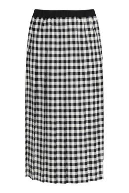 Плиссированная юбка-миди в клетку Marina Rinaldi 1511173311
