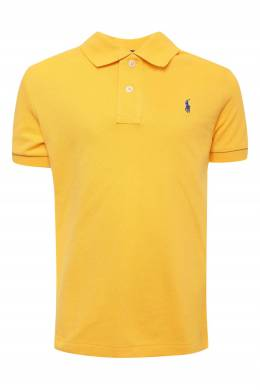 Желтое поло с логотипом Ralph Lauren Kids 1252173574