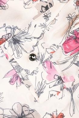 Бежевая блузка с узорами Marina Rinaldi 1511173324