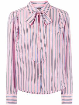 Marc Jacobs блузка в полоску с бантом M4007909652
