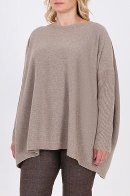 Бежевый пуловер оверсайз Salvatore Ferragamo 510174716