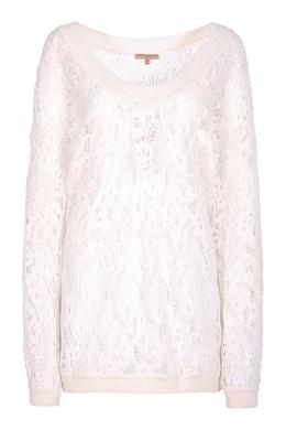 Белый ажурный свитер Ermanno Scervino 1328174735