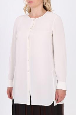Белая блуза с разрезами Salvatore Ferragamo 510174714