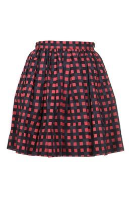 Красно-черная юбка мини MSGM 296174706