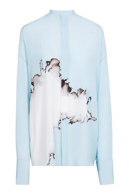 Голубая рубашка с принтом Haider Ackermann 1449174727