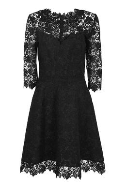 Черное кружевное платье Ermanno Scervino 1328175133