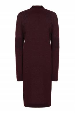Бордовое платье с кружевом Ermanno Scervino 1328175124