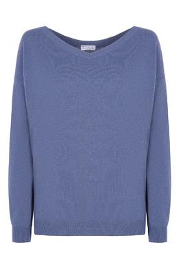 Сиреневый пуловер с деталью Brunello Cucinelli 1675175123
