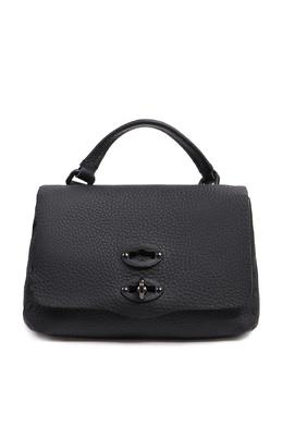 Черная сумка из фактурной кожи Zanellato 2538175163