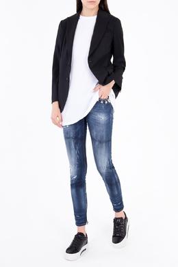 Синие джинсы с потертостями Dsquared2 1706175147