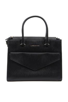 Черная сумка из фактурной кожи Lancaster 2480175149