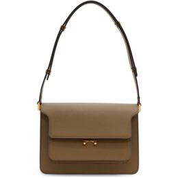 Marni Brown Saffiano Medium Trunk Bag SBMPN09NO1 LV520
