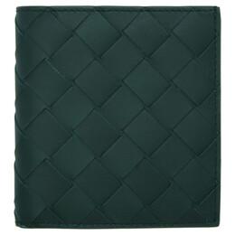 Bottega Veneta Green Small Intrecciato Wallet 592623 VCPQ4