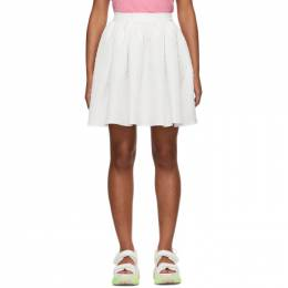MSGM White Pleated Miniskirt 2841MDD27 207105