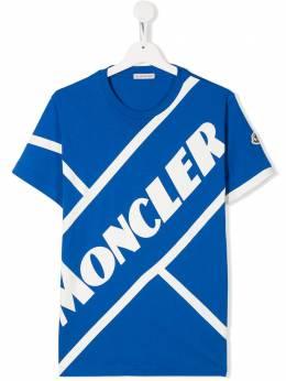 Moncler Kids футболка с логотипом 8C7012083907