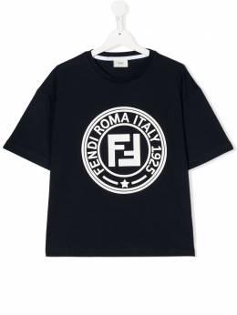 Fendi Kids футболка с логотипом JMI3267AJT