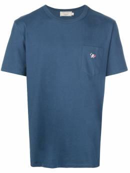 Maison Kitsune футболка с нашивкой Fox DM00125KJ0008