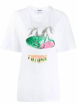 MSGM декорированная футболка Future 2841MDM230207298