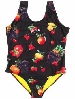 MSGM Kids TEEN fruit print swimsuit 022263