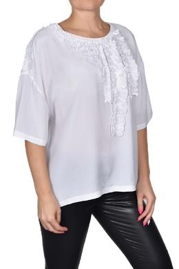 Белая футболка с оборками Twin-set 1506175394
