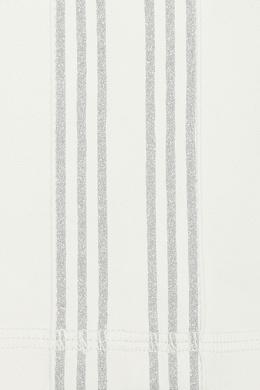 Белые леггинсы под кожу с лампасами Ermanno Scervino 1328171975