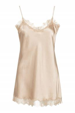 Розовая блузка-комбинация с кружевом Max & Moi 2919174200
