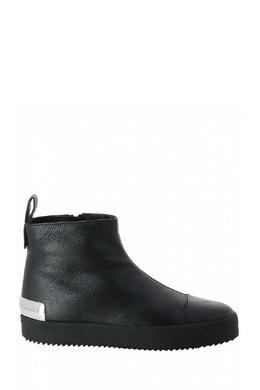 Утепленные ботинки из черной кожи Giuseppe Zanotti Design 2096174286