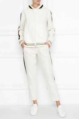 Белые трикотажные брюки с лампасами Ermanno Scervino 1328171789