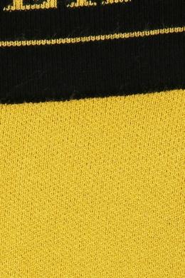 Желтые леггинсы с контрастной отделкой Ermanno Scervino 1328171881