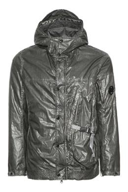 Серебристая хлопковая куртка C.P. Company 1929175038