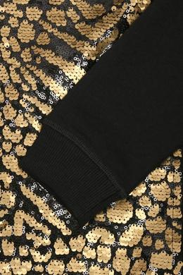 Свитшот с черными и золотистыми пайетками Antonio Marras 1574175512