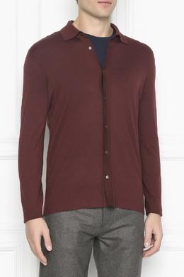 Бордовая рубашка из трикотажа Lardini 2453175100
