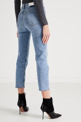 Укороченные джинсы с потертостями на колене Re/Done 1781175190