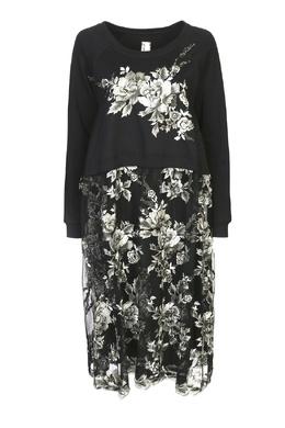 Комбинированное платье с цветочной вышивкой Antonio Marras 1574175522