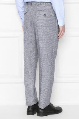 Серые брюки из фактурной шерсти Lardini 2453175111