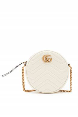 Круглая стеганая мини-сумка GG Marmont Gucci 470175204